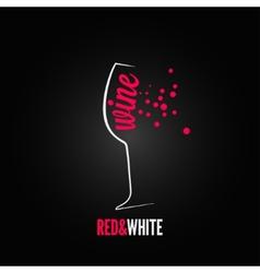 wine glass bubbles splash menu background vector image