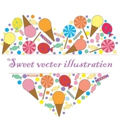 A sweet card for your text vector image