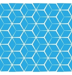 Abstract cubic blue background seamless pattern vector image