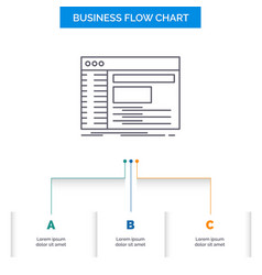 Admin console panel root software business flow vector