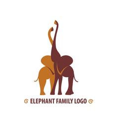 African hugging elephants vector