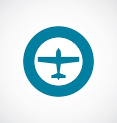 airplane icon bold blue circle border vector image