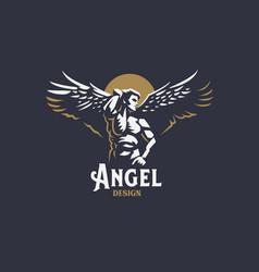 angel man emblem vector image