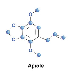 apiole is phenylpropene apiol vector image