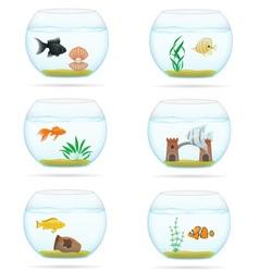 Aquarium with fish 07 vector