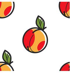armenian ripe peach seamless pattern fruit armenia vector image