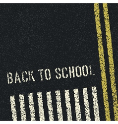 back to school road concept vector image