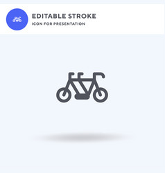 bike icon filled flat sign solid vector image