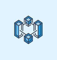 block chain creative icon cryptocurrency vector image