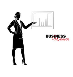 Businesswoman woman in business suit vector