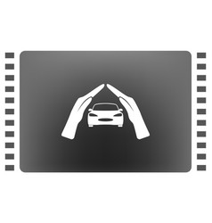car insurance icon on white background vector image
