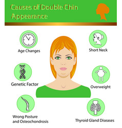 Causes of double chin diagram vector