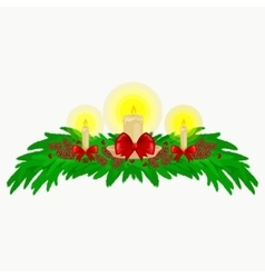christmas decorations such as candles vector image