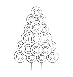 christmas tree decoration ornament abstract image vector image