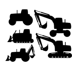 construction machines vector image