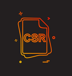 Csr file type icon design vector