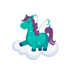 Cute Pegasus on a Cloud vector image