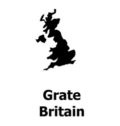 England map icon simple style vector