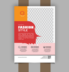Fashion style flyer design free vector