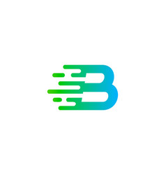 fast letter b logo icon design vector image