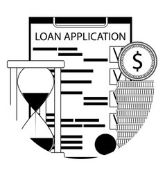 financial service of a loan line icon app vector image