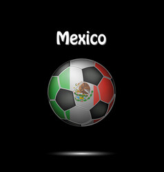 Flag of mexico in the form of a soccer ball vector