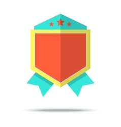 Flat style badge icon with vector