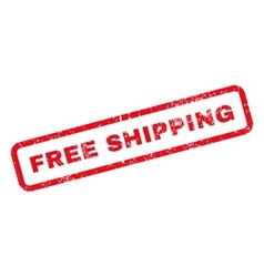 Free Shipping Text Rubber Stamp vector image