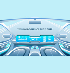 Future technologies banner vector