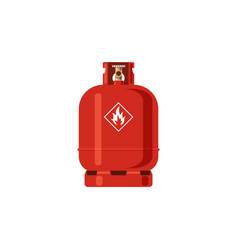 Gas cylinder red lpg propane container vector