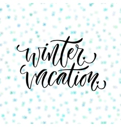 Hand drawn lettering Winter vacation vector