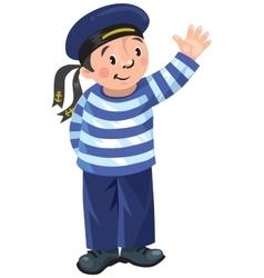 Happy sailor vector