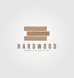 Hardwood parquet logo design wood minimalist logo vector