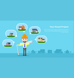 house project concept vector image