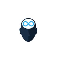 Infinity human head logo icon design vector