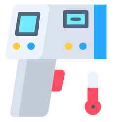 Infrared thermometer flat style icon vector