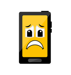 isolated sad cellphone emote vector image