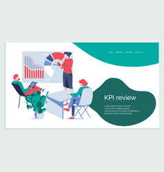 Kpi review banner template vector