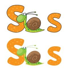 letter S snail vector image