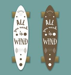 Longboard skateboard vector image