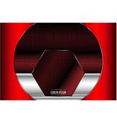 Metallic red with carbon fiber texture vector