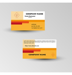Modern brown business card template vector