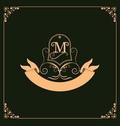 monogram luxury vector image