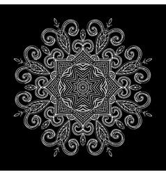 New Round Mandala-07 vector image