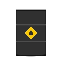 Oil barrel flat icon vector