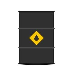 Oil barrel flat icon vector image