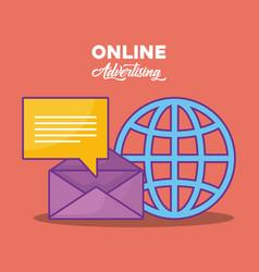 online advertising design vector image