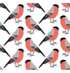 pattern bullfinch vector image