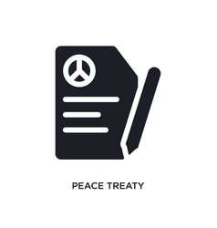 Peace treaty isolated icon simple element from vector