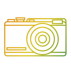 photo camera device flash icon vector image